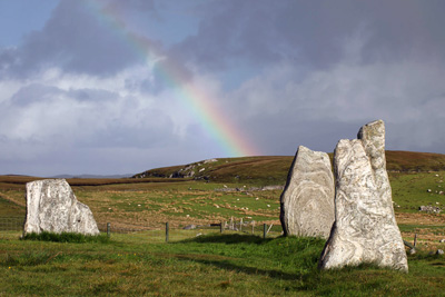 Isle of Lewis View with Rainbow